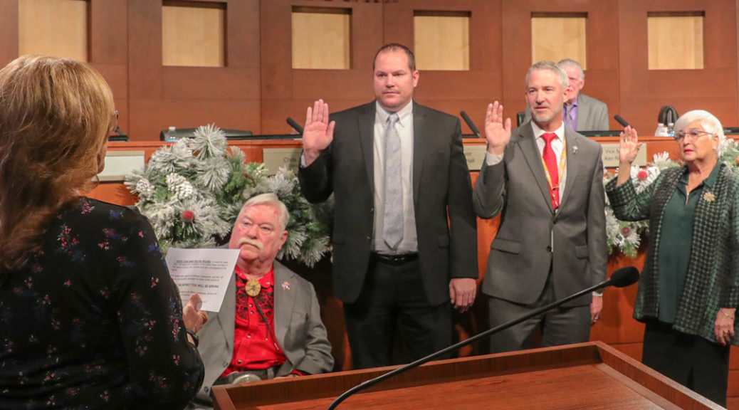 New council members swearing in