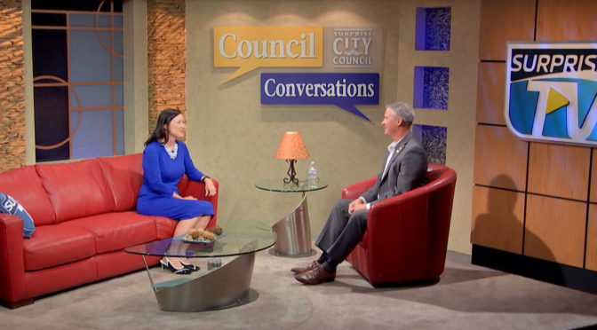 Councilmember Judd Economic Developer Jeanine Jerkovic on Council Conversations.
