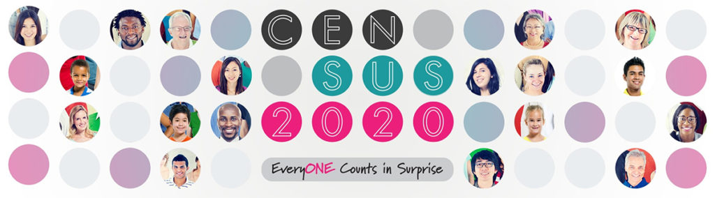 Everyone Counts in Surprise, Census 2020 Banner