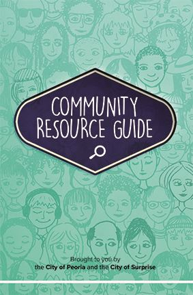 Front cover the the Surprise Community Resource Guide.