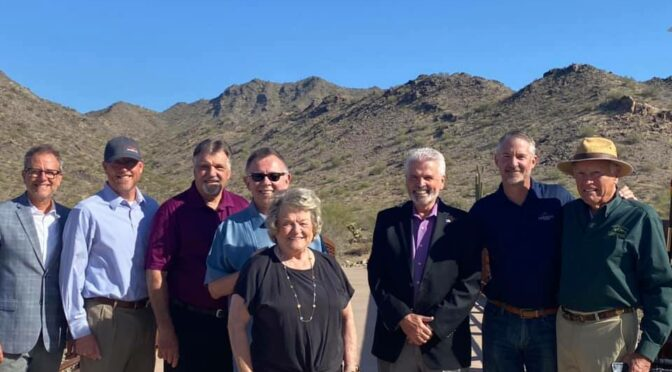 Mayor Hall, Councilmember Judd and other valley mayors at the Skyline Regional Park.