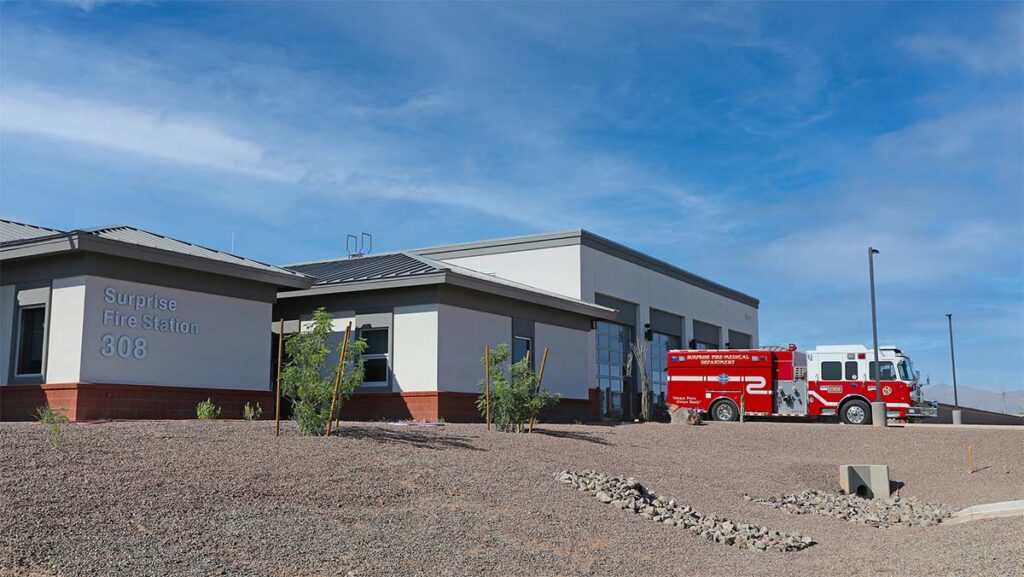The completed Fire Station 308.